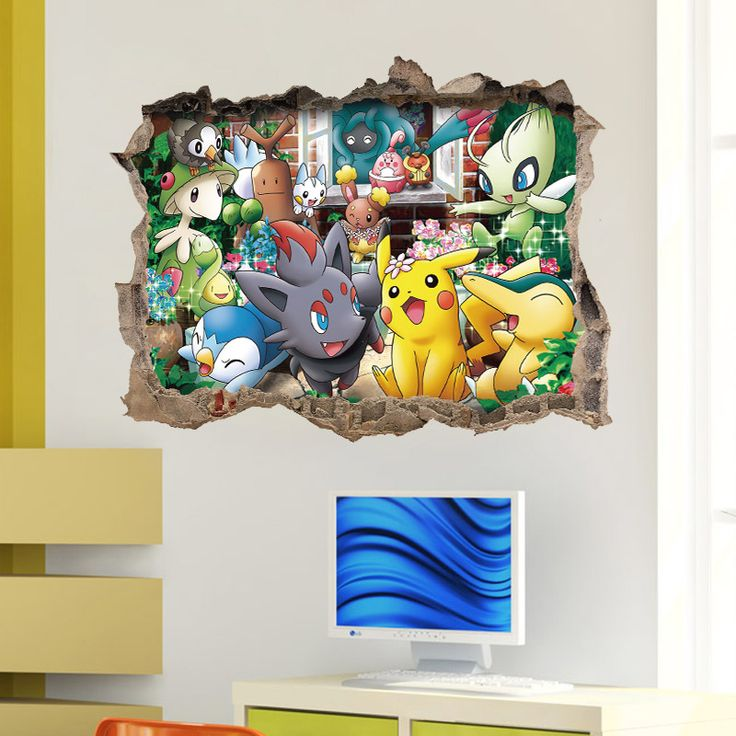 25 best ideas about pokemon wall stickers on pinterest for 3d decoration games