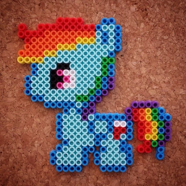 MLP Baby Rainbow Dash perler beads by halemark.handcrafts