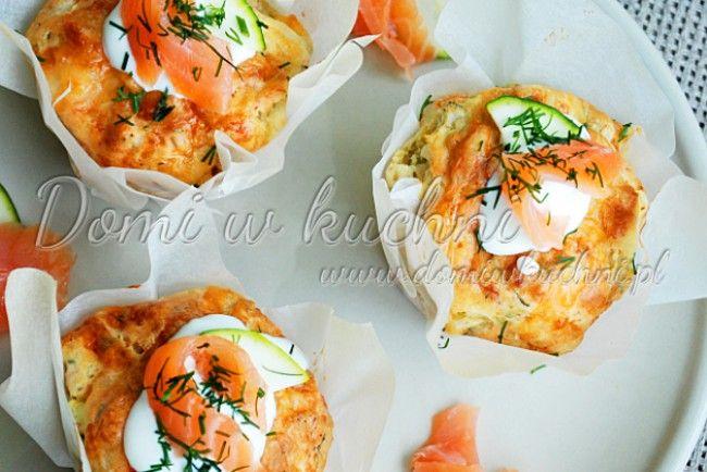 Muffiny z cukinią i łososiem | Domi w kuchni