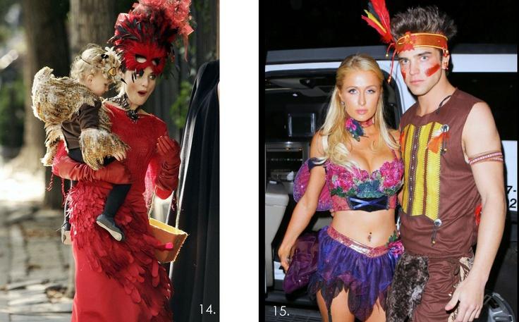 Famous on Halloween costumes, disfraces de Halloween de famosos