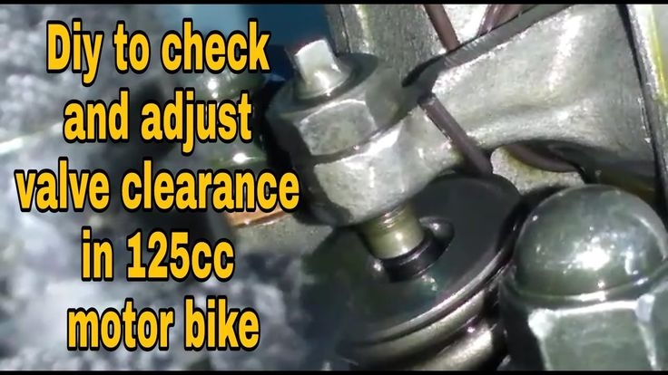 Diy video to check and adjust 3 valve clearance in 110cc and 125cc motor...