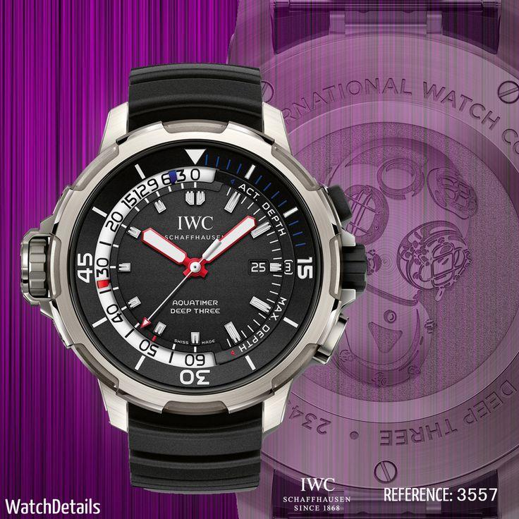 Read more Watches Diving Aquatimer Deep Three http://www.watchdetails.com/2015/01/watches-diving-aquatimer-deep-three.html #Watches #Diving #style #Fashion #IWC
