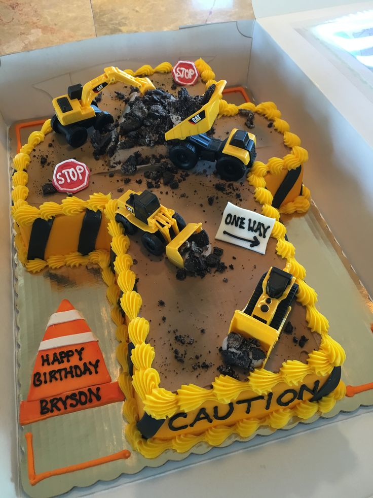 Boys Construction Cake