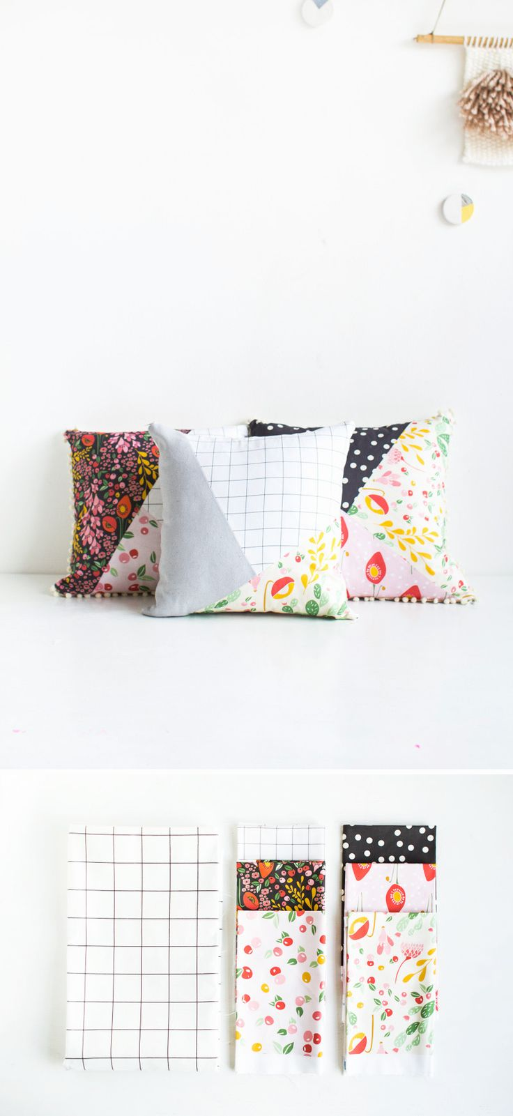 Fall For DIY   Pattern Blocked Pillow materials