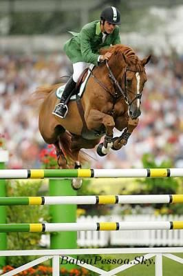 Rodrigo Pessoa (pictured on famed stallion Baloubet du Rouet) will be returning for his sixth Olympics in Showjumping, this time on HH Rebozo LS. Rodrigo will be the Flag bearer for Brazil.