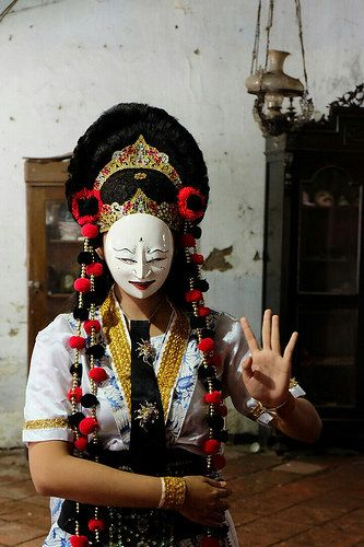 Cirebon mask dancer . Java Indonesia