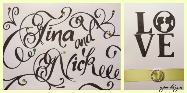 Tina+Nick Engagement #engagement #wedding #party #weddingcards #bling #calligraphy #love #cards #mpiredesigns