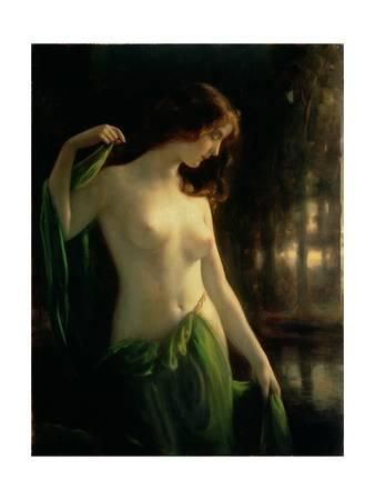 Water Nymph Giclee Print by Otto Theodor Gustav Lingner at Art.com