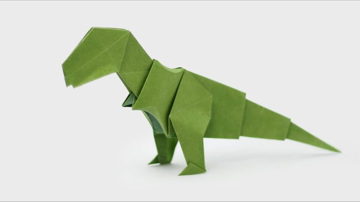 Origami Dinosaur - T-Rex (Jo Nakashima). The 3D Head video is here: https://www.youtube.com/watch?v=jNgKHyBsFBA&feature=youtu.be