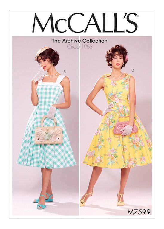 I really used to look forward to new pattern releases . . . that does not happen very often these days.    McCalls 7599      The Archive C...