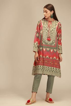 736c209707 Khaadi 2 Piece Custom Stitched Suit - Green - KJ18407 | Clothes ...