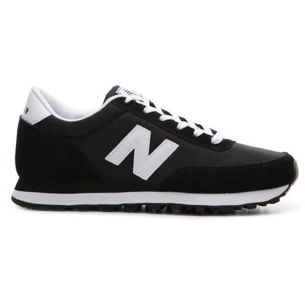 New Balance 501 Retro Sneaker Womens (115 PEN) ❤ liked on Polyvore featuring shoes, sneakers, black, black shoes, new balance, retro shoes, retro sneakers and black trainers