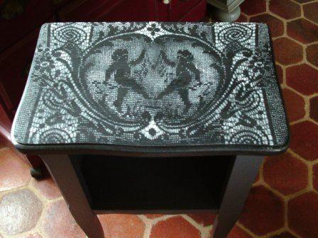 11 best Peinture décorative, meubles peints patinés images on - Peindre Table De Chevet