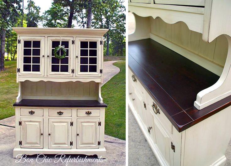 Farmhouse Chic Hutch Upcycle | Design Ideas For Finishing Furniture, Cabinets & Floors#.VcjRqz_bKM8#.VcjRqz_bKM8