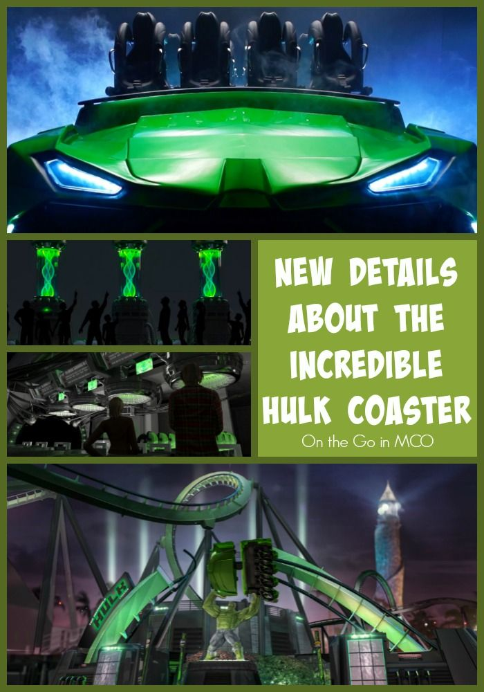 New Details About The Incredible Hulk Coaster at Universal's Islands of Adventure - Universal Orlando Resort - Florida