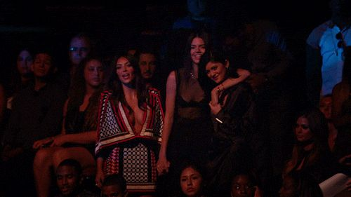 Pin for Later: 16 Times Watching the VMAs Audience Was Better Than the Actual Show When Kim Kardashian and Kendall and Kylie Jenner stood up for Sam Smith.
