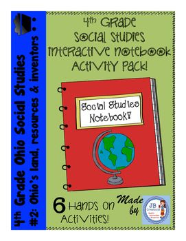 These interactive notebook activities focus on key Ohio Social Studies standards for 4th grade in the areas of early Ohios resources, map skills, transportation, modifications to the environment, timelines, and famous inventors!  Students remember so much more content when ENGAGED with the material!
