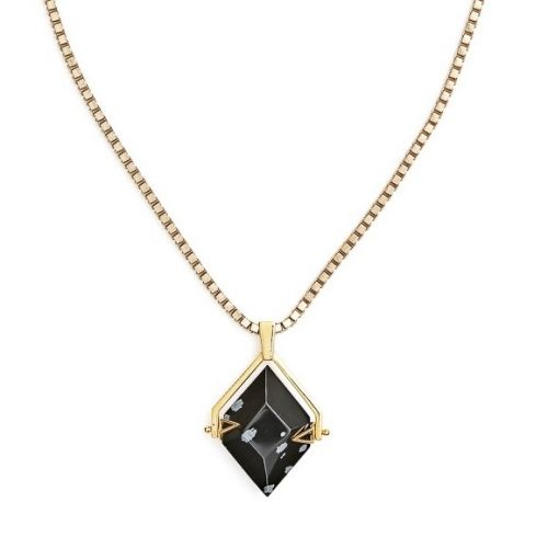 Spinner Gold Snowflake Obsidian