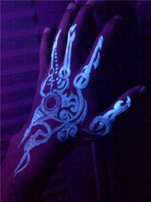 I WILL be having a glow in the dark #tattoo #awesome!