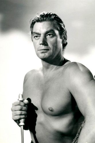 JOHNNY WEISSMULLER (1904 - 1984) was an Romanian-Austro-Hungarian-American competition swimmer and actor best known for playing Tarzan in films of the 1930s and 1940s and for having one of the best competitive swimming records of the 20th century.