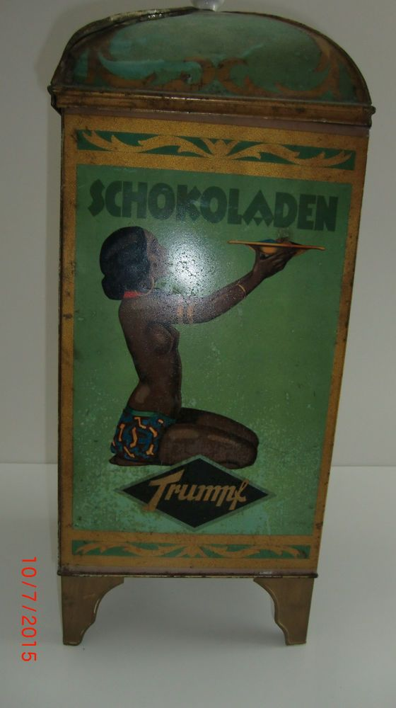 Trumpf - Schokoladen alte Blechdose - komplett erhalten