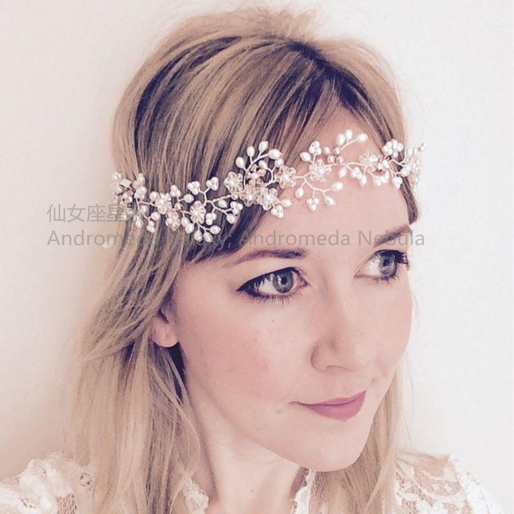 Япония и Южная Корея невесты и подружек перлы тиары оголовье корона кристалл Гирлянда диапазон волос аксессуары для волос кольцо волос свадебные фотографии - Taobao