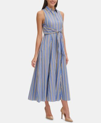 Tie Haley 2019Stuff For Tommy Striped Maxi Shirtdress Front In dCBoshtQrx