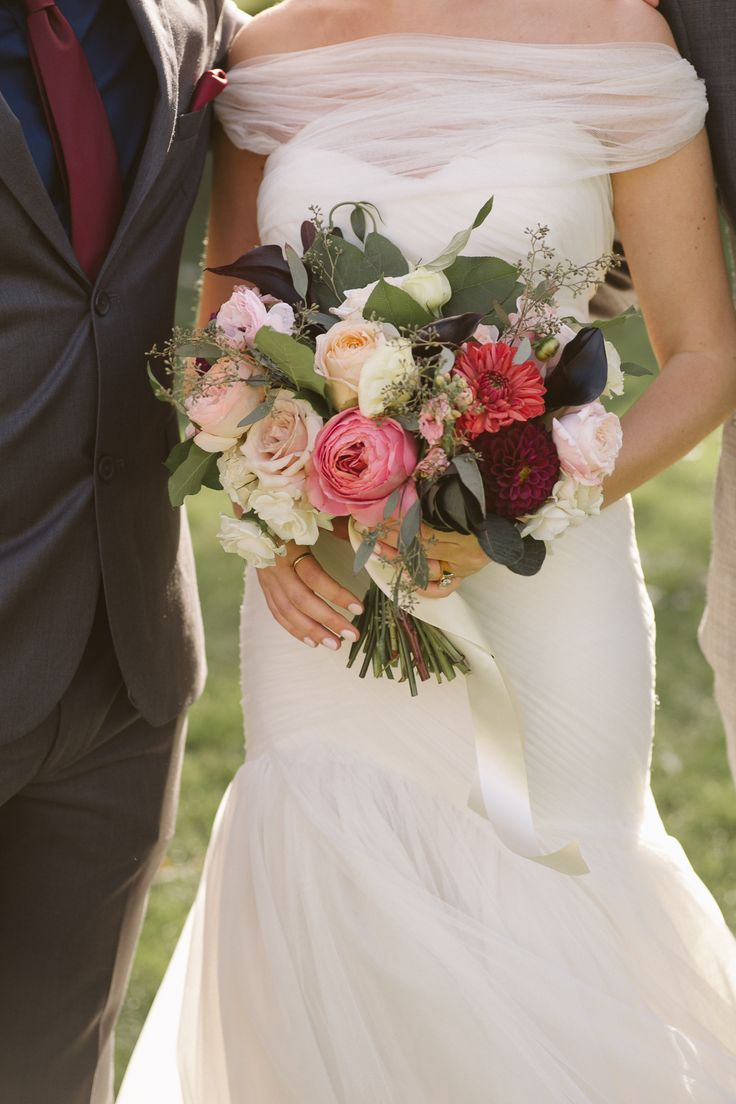 Fuschia wedding bouquet; FLORALS The Design Co. Ottawa; PHOTOGRAPHY Joel + Justyna Bedford;