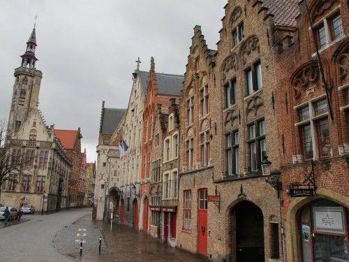 Typical street in Bruge, Belgium