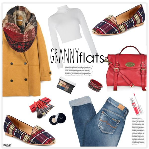 Cute Trend: Granny Flats by marion-fashionista-diva-miller on Polyvore featuring Lauren Ralph Lauren, Pepe Jeans London, Mulberry, Christian Dior, Lancôme, NARS Cosmetics and grannyflats