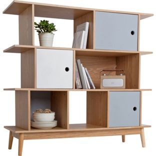 Buy Foley Offset Bookcase - Multicoloured at Argos.co.uk - Your Online Shop for Bookcases and shelving units.