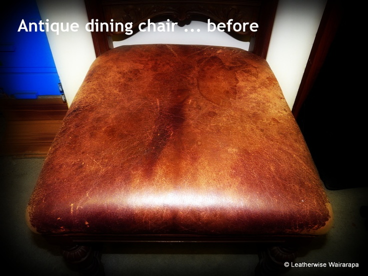Antique dining chair ... before