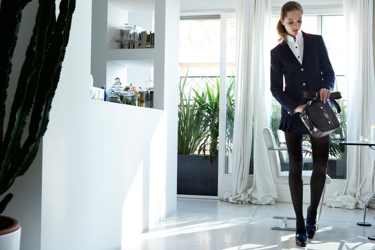 Fay City Diaries features the Women's Fall - Winter 2013/14 collection with the polished backdrop of Milan. Jacket. http://www.fay.com/it/city-diaries/milano