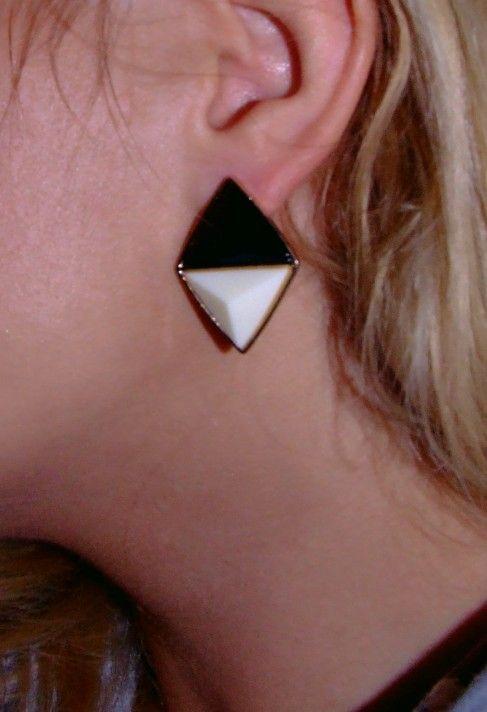 Black&white earrings