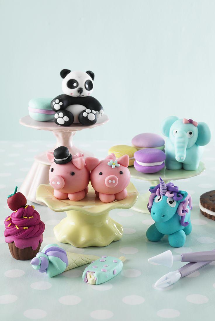 Cute marzipan animals www.pandurohobby.com Sweets by Panduro  #sweets #DIY #marzipan #candy #unicorn #godis #marsipanfigurer #marsipangris #enhörning #panda