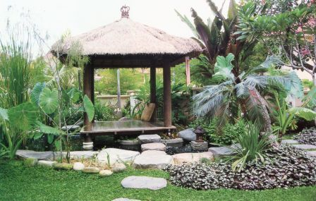 Set in its own sanctuary within a sanctuary, experience absolute peace as you meditate in your very own gazebo #Bali www.asiahomegarden.com