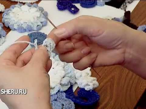Вязание крючком в технике Фриформ - Crochet in the technique friform - YouTube
