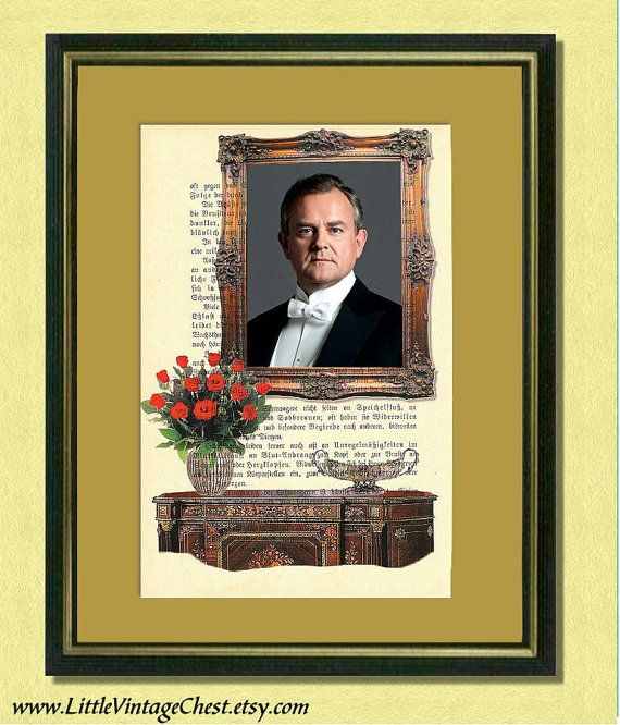 Black Friday! Buy 1 Get 2! - DOWNTON ABBEY  Lord Grantham  Dictionary art by littlevintagechest, $8.99