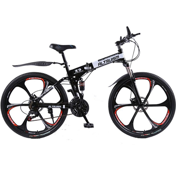 Mountain bike for Male folding bicycle 24 speed bicicletas 26 inch standard double disc bicycle adult bikes white unisex biycles - Mountain Bikes For Sale