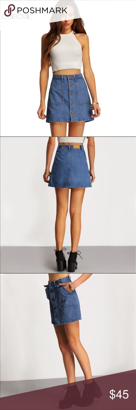 ❤️Sale❤️High waisted jean skirt Woman's high waisted jean skirt. Perfect for a summer day, and goes with pretty much any top! Skirts High Low