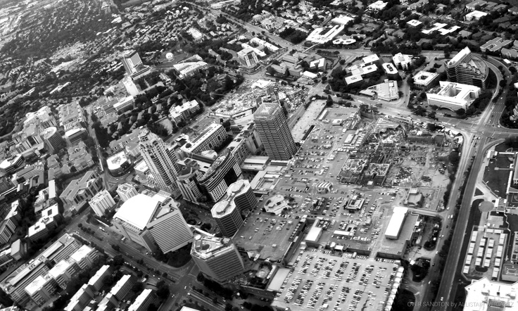 A great aerial shot of Sandton. #photography #aerial #perspective #johannesburg