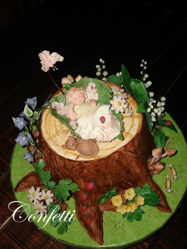 enchanted forest baby shower | Enchanted Forest - This is the cake I made for my friend's baby shower ...