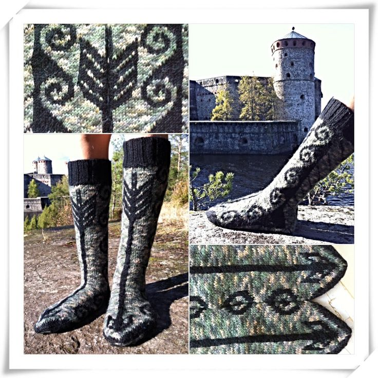 Jousimiehen sukat / socks for a archer ...i'am very proud of these, cause my 12 years old son designed them.