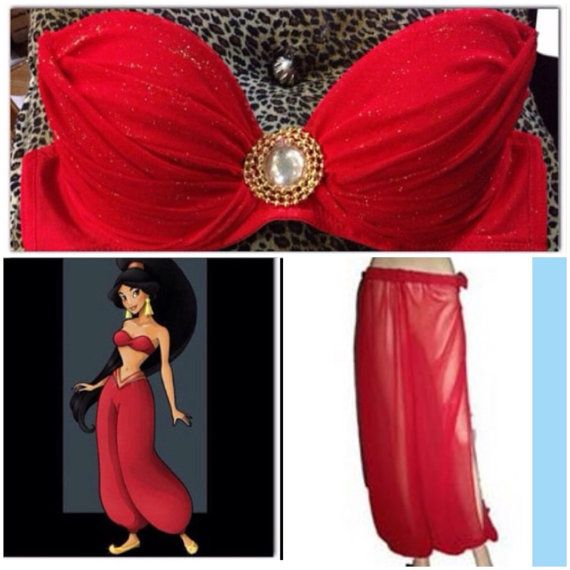 Costume de princesse Jasmine Rouge esclave par ElectricDollyShop