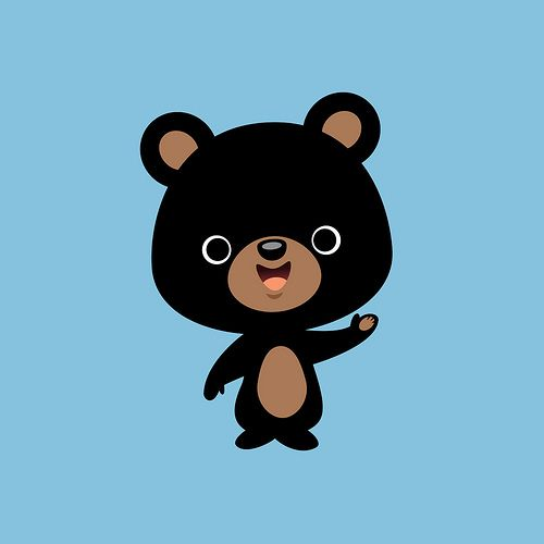 Little Black Bear in 2020 | Cute cartoon drawings, Bear ...