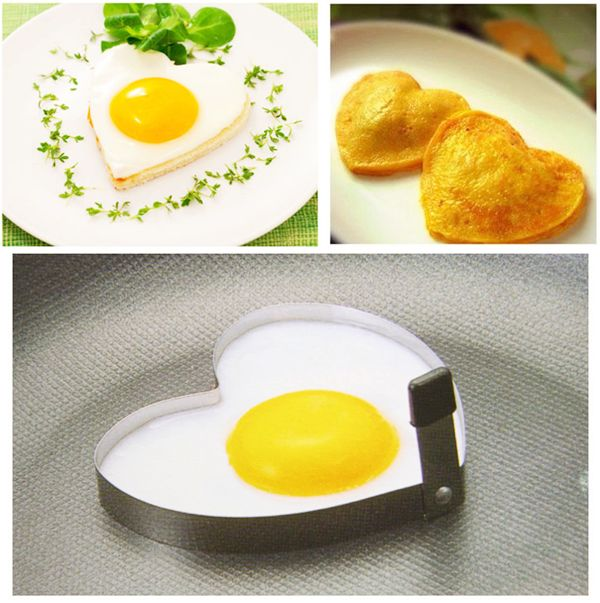 USD $3.99 1pc Creative Stainless Steel Heart Shaped Fried Eggs Mold Mould for Kitchen DIY - BornPrettyStore.com