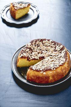 Torta di mais con mandorle e arance - Almond, corn flour and orange cake