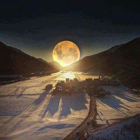 Winter moon.