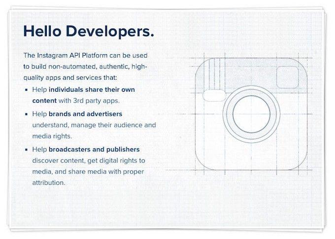 Instagram alza la voce e modifica le condizioni d'uso per le API