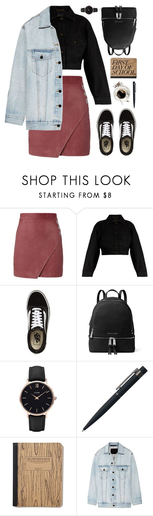 """Untitled #212"" by fanfanfann ❤ liked on Polyvore featuring Michelle Mason, Yves Saint Laurent, Vans, MICHAEL Michael Kors, CLUSE, John Lewis and Alexander Wang"
